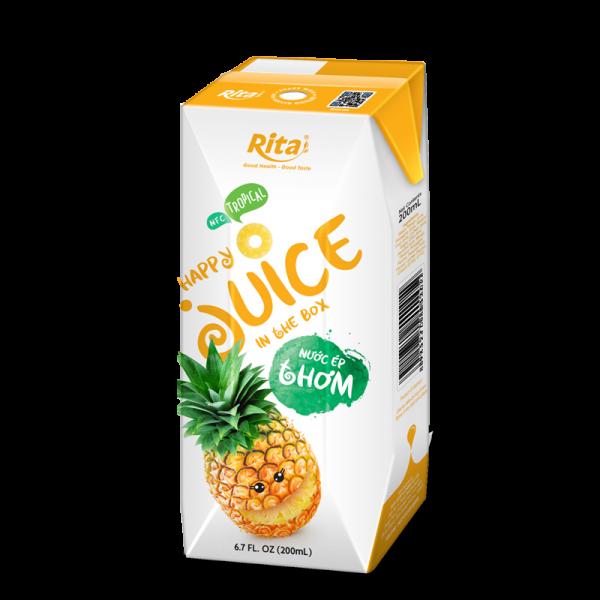 nước ép trái thơm đóng hộp 200ml