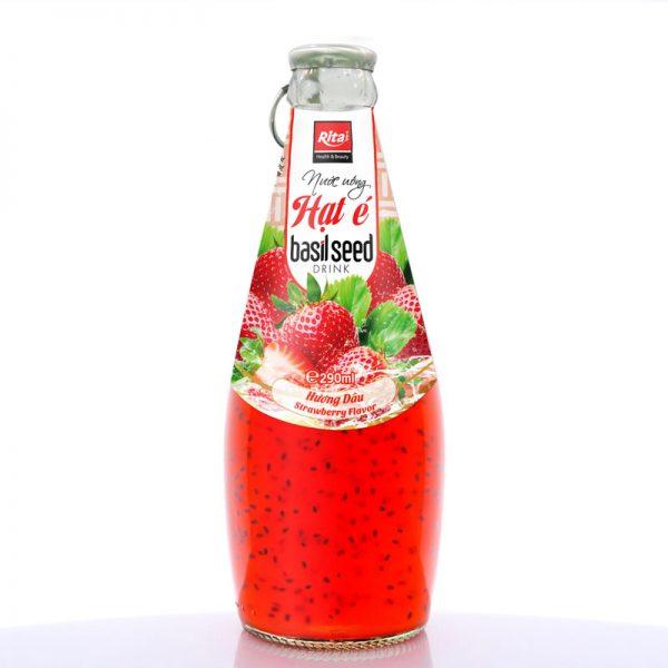 nước uống hạt é hương dâu 290ml