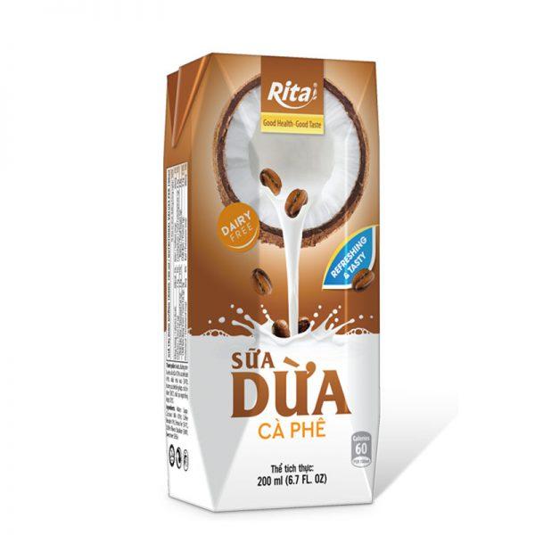 Sữa dừa vị cà phê đóng hộp 200ml